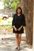 Actress Hebah Patel Stills in Black Mini Dress at Angel Movie Teaser Launch  0066.JPG