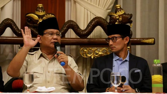 Prabowo-Sandi Prihatin Pelemahan Rupiah Memberatkan Rakyat Kecil