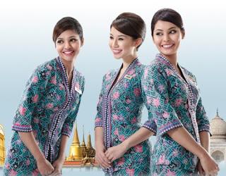 Contoh Batik Wanita Untuk Pramugari Terbaru