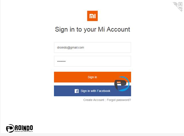 lakukan login akun Mi sesuai akun login yang di hp Xiaomi Redmi Note 5  5 Pro kamu