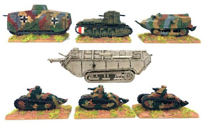 Five New WWI Tanks from Kallistra