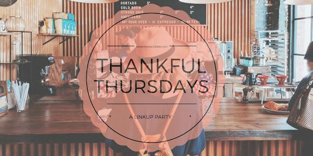 Thankful Thursdays — a Link Up party!