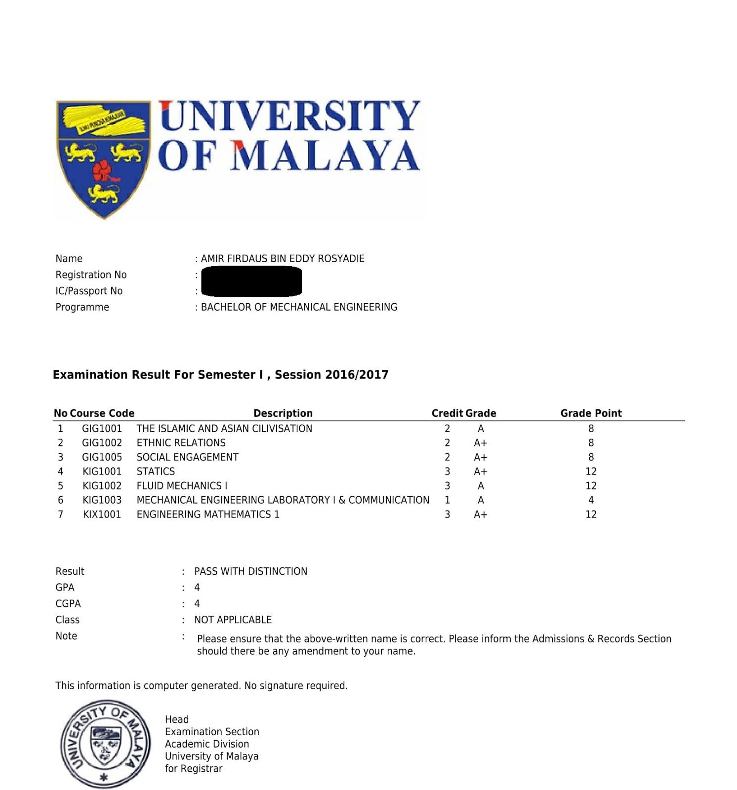 Pengalaman Menjadi First Year Student Di Universiti Malaya