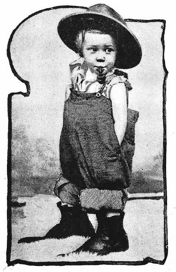 1899 tobacco kid photograph, little man