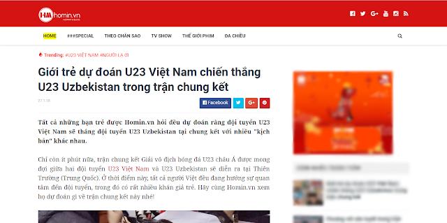 Giao diện đầu tiên của Homin.vn 5