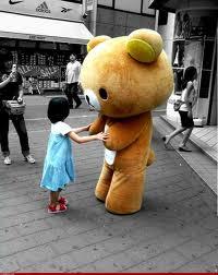 Disfraz de oso estilo kawaii.