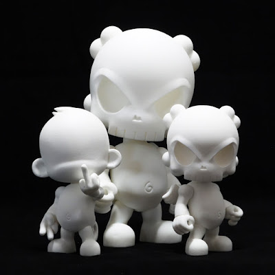 "Cheeky Monkey and Skullhead The Blank 4"" Resin Figures by Huck Gee"
