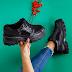 Sneakersi dama negri cu talpa groasa moderni la reducere