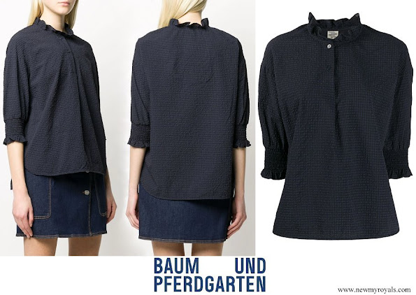 Crown Princess Victoria wore Baum und Pferdgarten Margit flared collar blouse