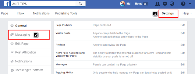 how to set auto reply in facebook chat