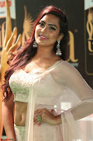 Prajna Actress in backless Cream Choli and transparent saree at IIFA Utsavam Awards 2017 0128.JPG