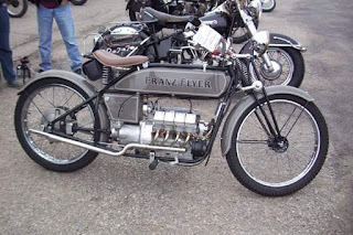 Franz Flyer powered by a homemade 694 cc Honda cb350f based v8 with a BMW transmission