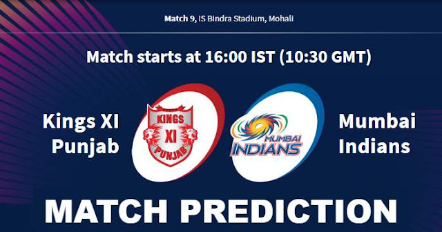 VIVO IPL 2019 Match 9 KXIP vs MI Match Prediction, Probable Playing XI: Who Will Win?