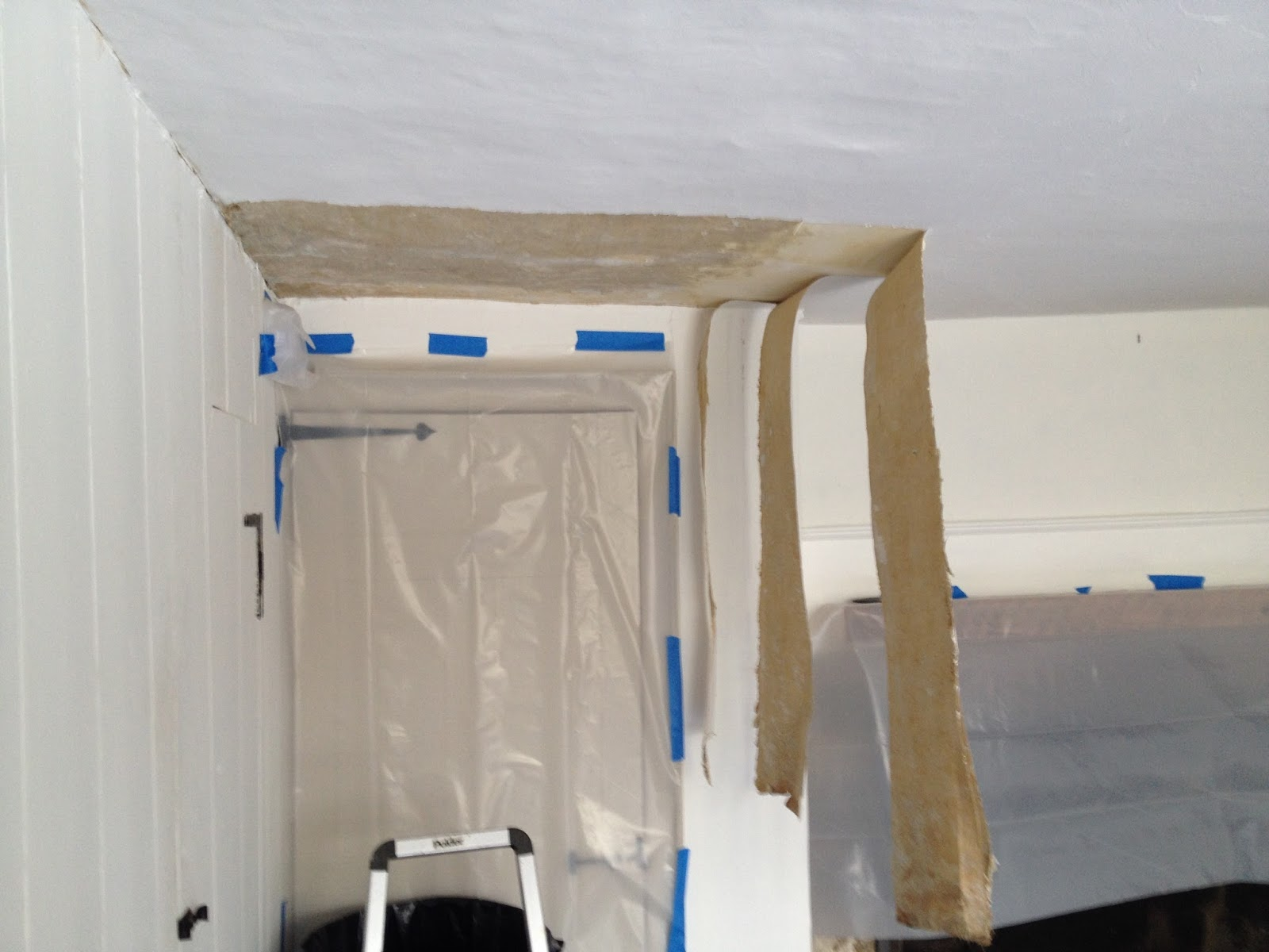 removing linen fabric from ceiling
