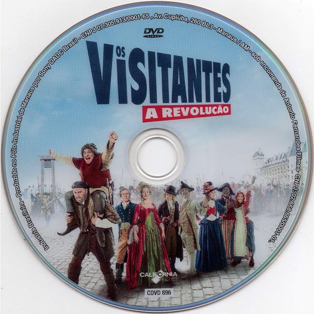 Label DVD Os Visitantes A Revolução (Oficial)