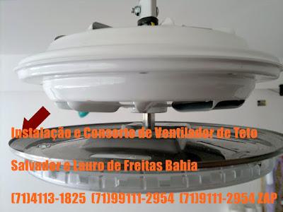 Ventilador de Teto Travado Não Gira Consertamos em Salvador-Ba