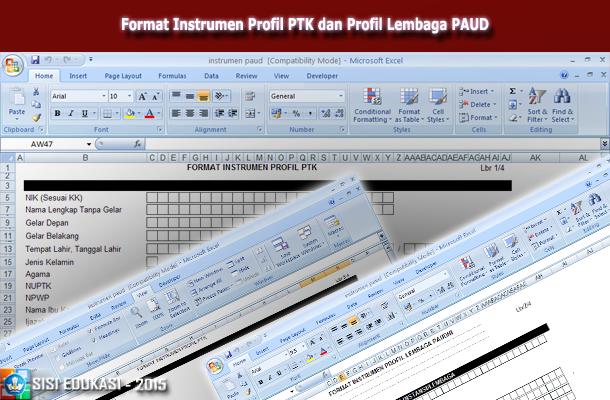 Format Instrumen Profil PTK dan Profil Lembaga PAUD