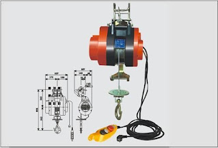 Darmatek Jual Kaixun HXS-100F-250F Suspending Mini Electric Hoist