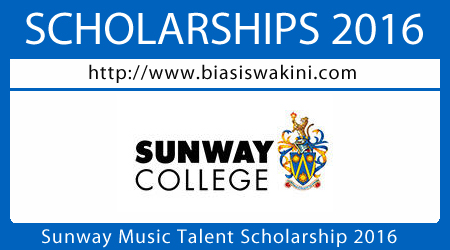 Sunway Music Talent Scholarship 2016