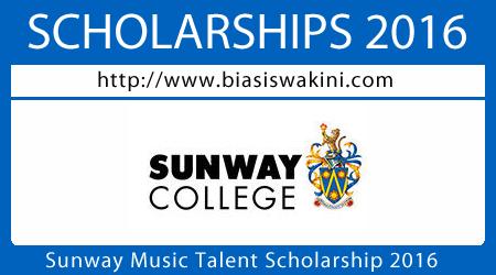 Sunway Music Talent Scholarship 2016