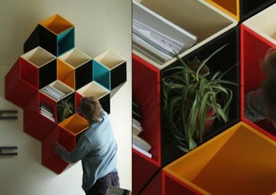 Librero imposible una idea muy creativa para decorar la pared