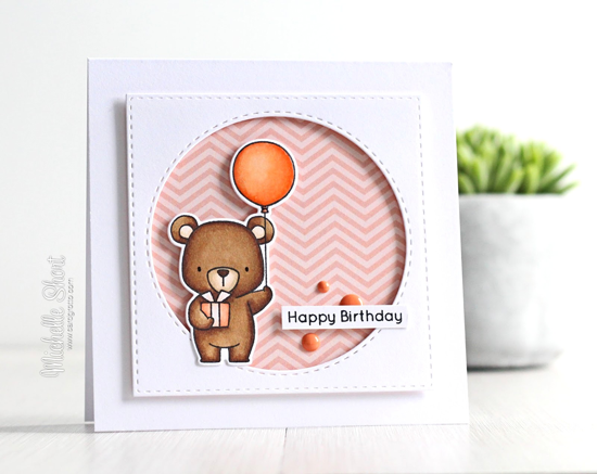 Birdie Brown Beary Special Birthday stamp set - and Die-namcis - Michelle Short #mftstamps