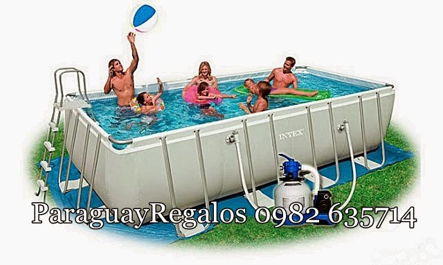 Paraguay regalos piscinas for Piscina intex rectangular