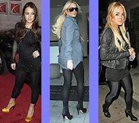 Lindsay Lohan con leggins