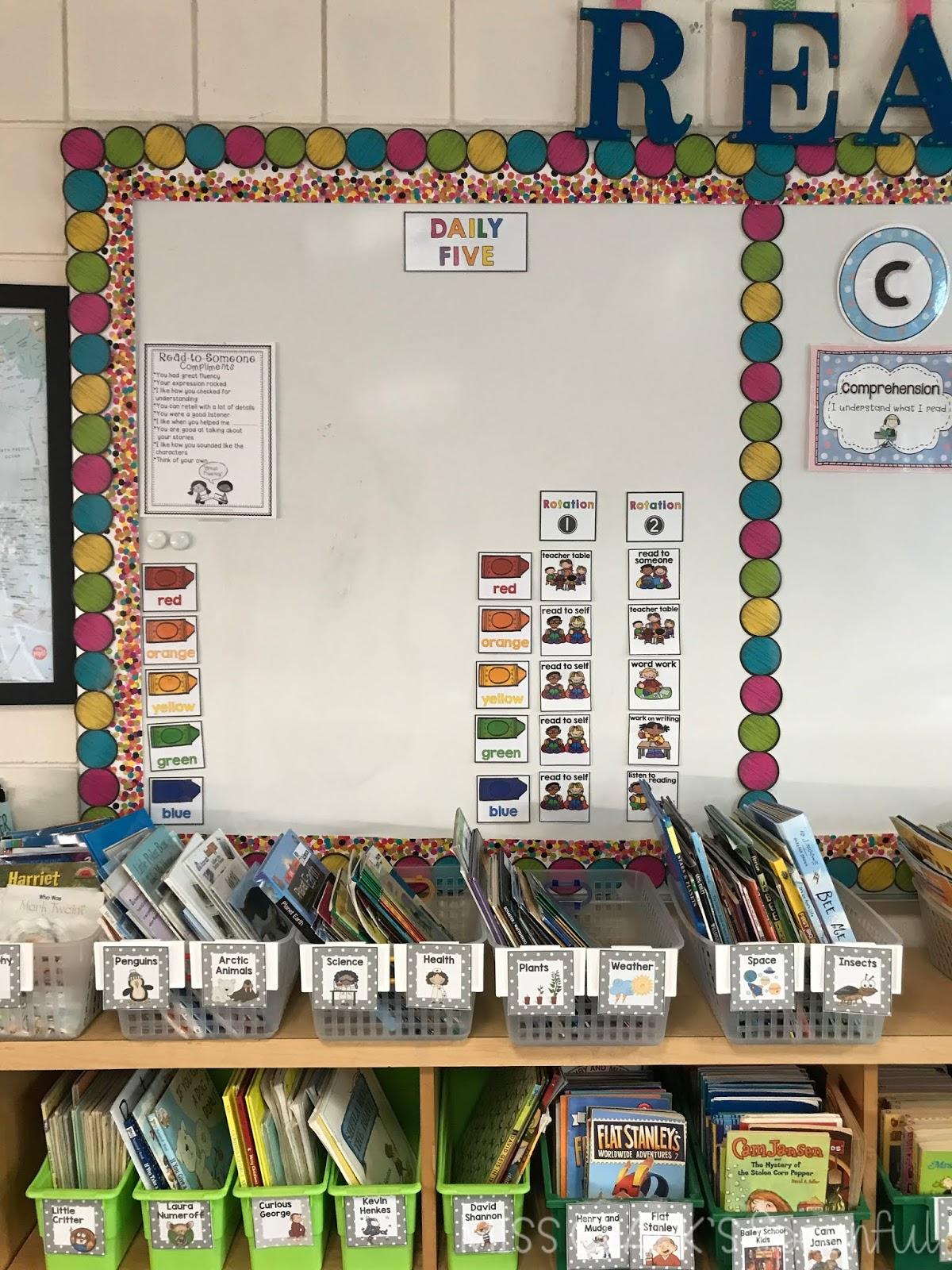 literacy center rotation board