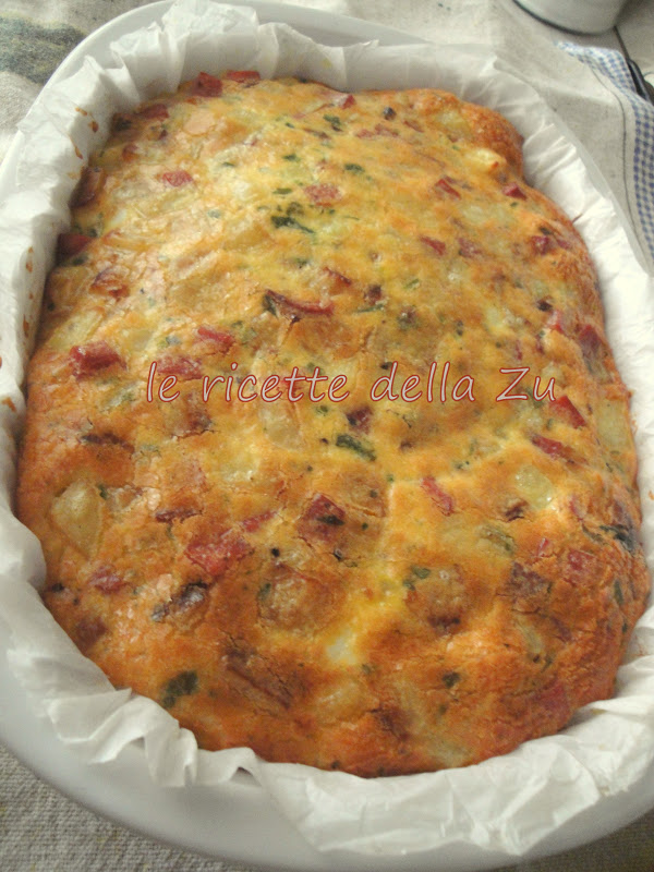 Le ricette della zu frittata al forno con patate cipolle for Ricette con patate