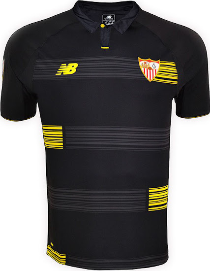 9f0dc72c1a3 The black New Balance Sevilla Third Kit introduces a fresh look for the  Andalusian La Liga side. The new Sevilla 15-16 Third Kit combines the main  color ...