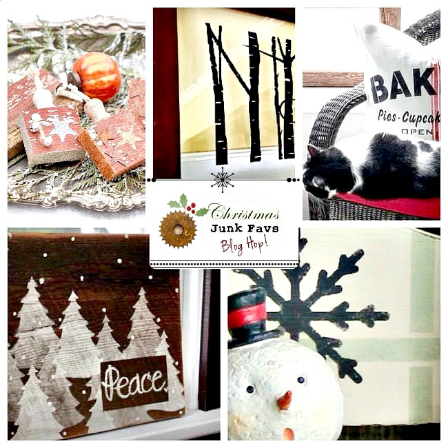 Christmas junk faves blog hop. Repurposed projects for the holidays