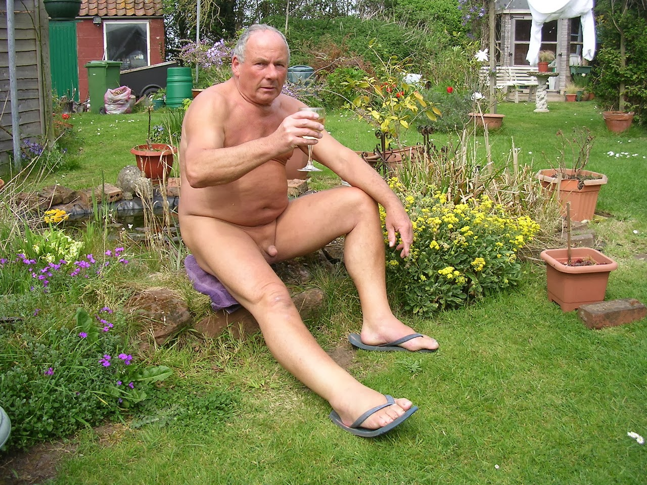 naked gay senior men
