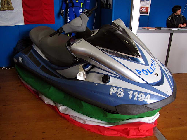 Water scooter of the Polizia di Stato, National Police, Tuttovela, Livorno