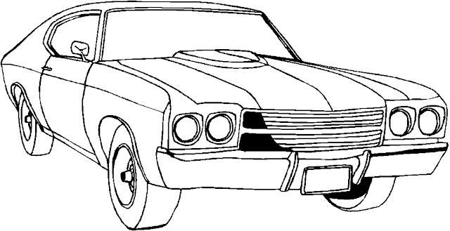 coloriage de voiture à imprimer