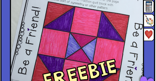 Do Something Different on Valentine's Day! Make a Math Fractions Quilt!