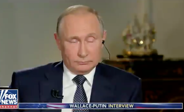Putin refuses to look at Mueller indictment during Fox News interview