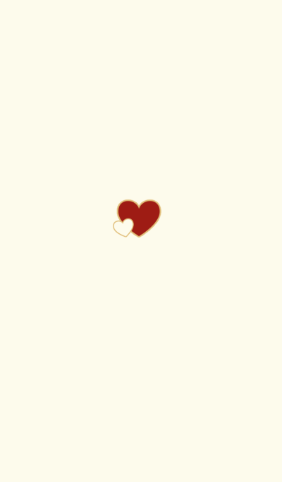 -Red Heart- Ivory