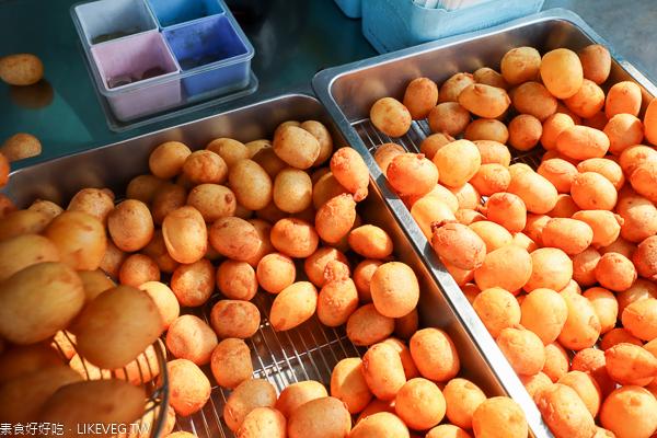 紅心地瓜球大里店|台中大里排隊人氣小吃美食|全素可食