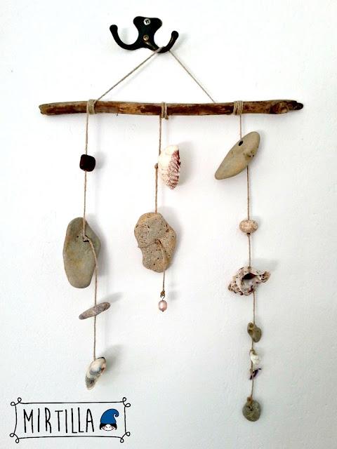 decorazione conchiglie e sassi mare
