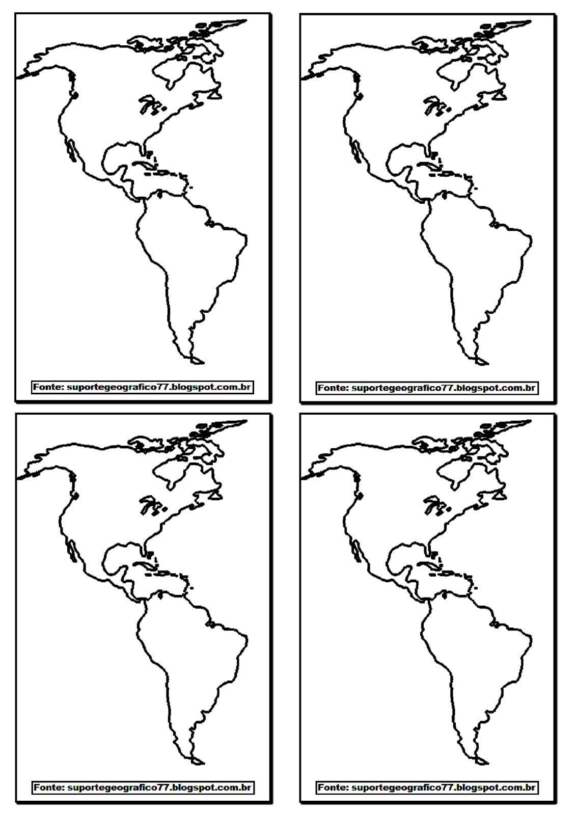 Suporte Geografico America Mapas Para Colorir