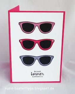 Brillenkarte mit Stempelset Tasche voller Sonnenschein von Stampin Up Demonstratorin in Coburg