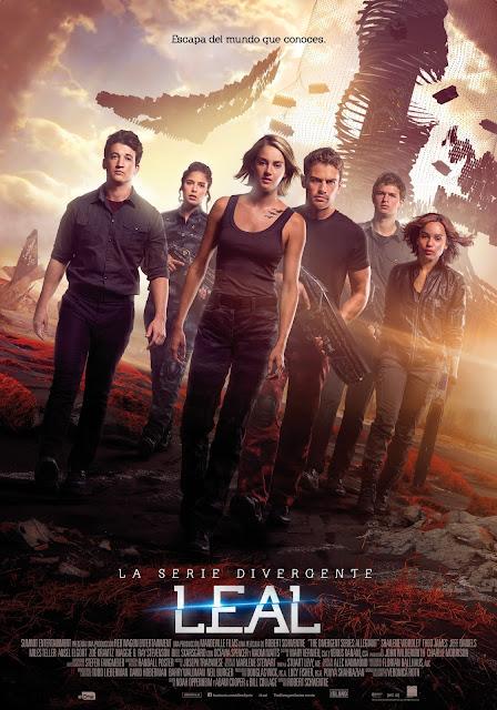 Póster oficial español de 'La serie Divergente: Leal'