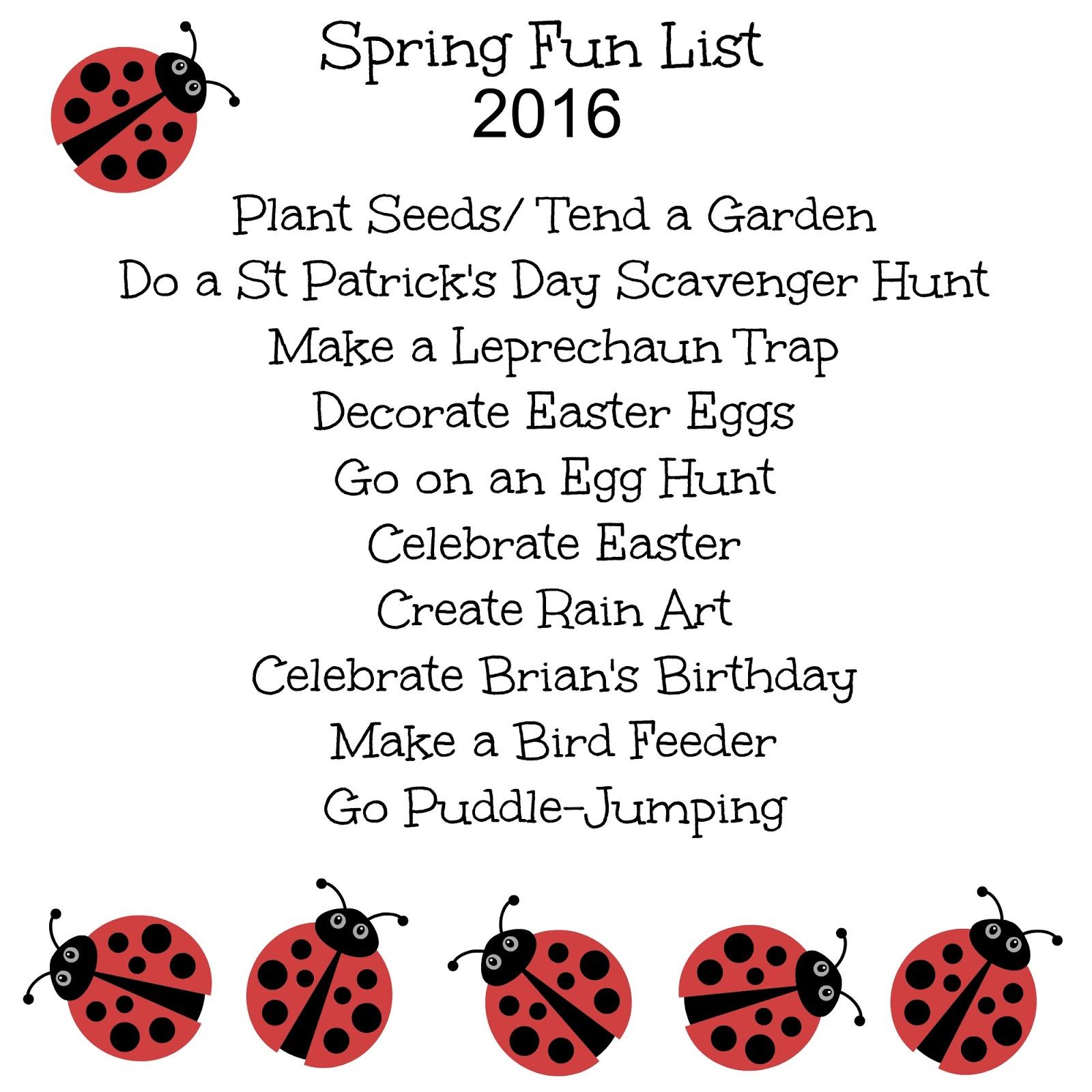 Work It Mommy Spring Fun List