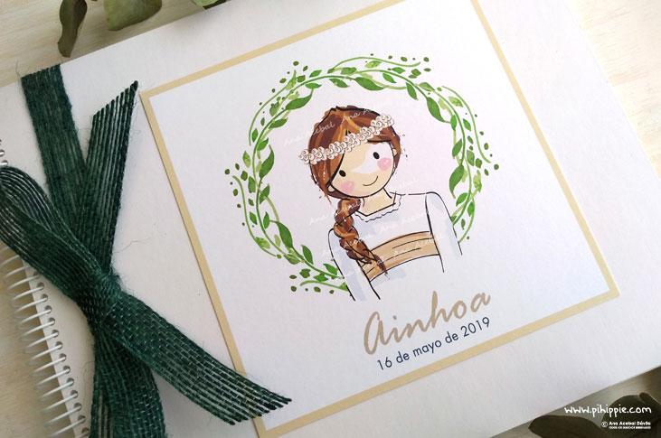 libro firmas primera comunion niña