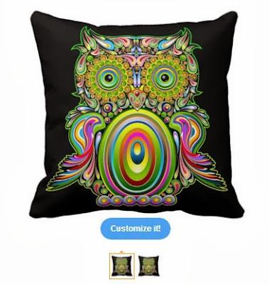 Bluedarkart The Chameleon S Art Owl Psychedelic Pop Art