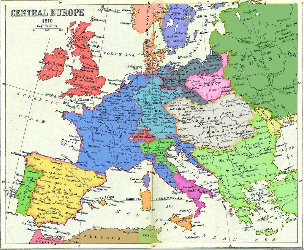 central europe 1810 europe under napoleon