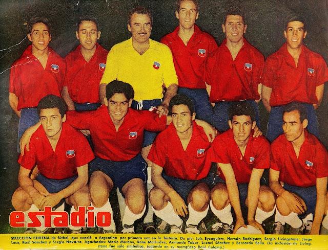 Formación de Chile ante Argentina, amistoso disputado el 18 de noviembre de 1959