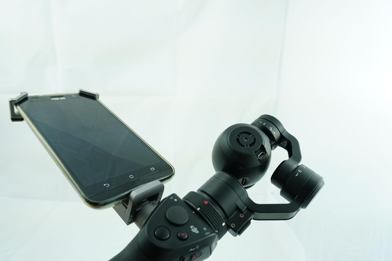 Smartphone được xem như màn hình của DJI Osmo Camera