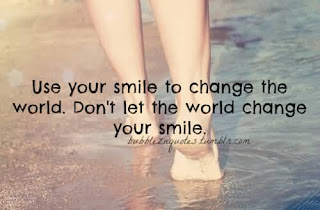 Smile happiness Quotes Wishes For Friend:  Use your smile to change the world. Don't let the world change your smile.